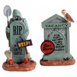 Pierres tombales Lot de 2 Lemax Halloween