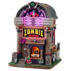 Juke-box de zombies lumineux Lemax Halloween