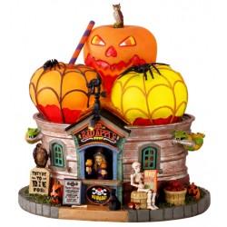 Boutique de pommes empoisonnées lumineuse Lemax Halloween