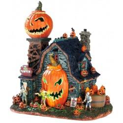 Ferme aux citrouilles animée lumineuse sonore Lemax Halloween