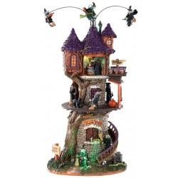 Tour des sorcières animée lumineuse sonore Lemax Halloween