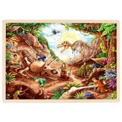 Puzzle cadre enfant en bois Fouille archéologique 192 pièces