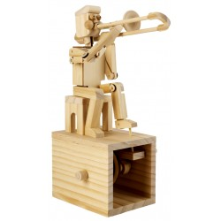 Automate en bois à monter Joueur de trombone