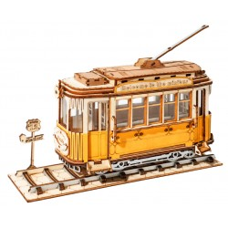 Maquette en bois Tramway ancien