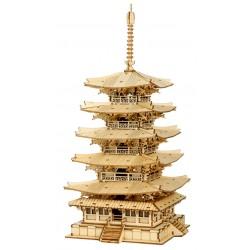 Maquette en bois Tour bouddhiste