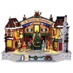 Maison lumineuse animée sonore Chorale de Noël Lemax Caddington
