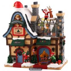 Maison lumineuse Garderie du Pôle Nord Lemax Santas Wonderland