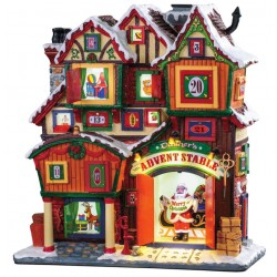 Façade Noël lumineuse Calendrier de l'avent Lemax Caddington