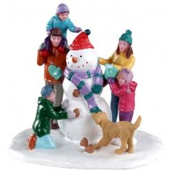 Bonhomme de neige en famille Lemax Vail Village