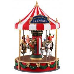 Carrousel de Noël lumineux animé sonore Lemax Caddington