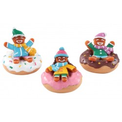 Pains d'épice en luge donuts Lot de 3 Lemax Sugar N Spice