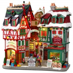 Façade de Noël lumineuse Christmas City Lemax