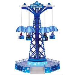 Manège Parachutes lumineux animé sonore Lemax Carnival