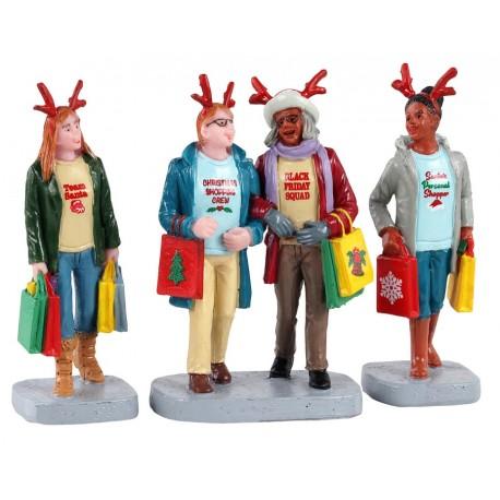 Shopping de Noël entre amis Lot de 3 Lemax