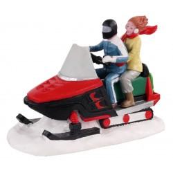 Couple en moto-neige Lemax