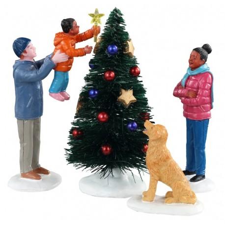 Sapin de Noël en famille Lot de 4 Lemax