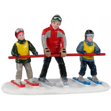 Moniteur de ski et enfants Lemax Vail Village