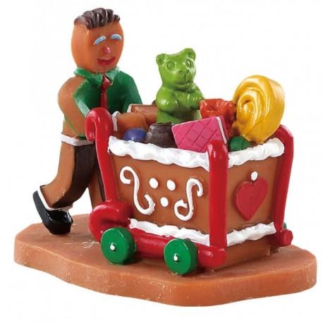 Bonhomme avec chariot Lemax Sugar N Spice