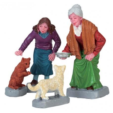 Dames avec chats Lot de 4 Lemax