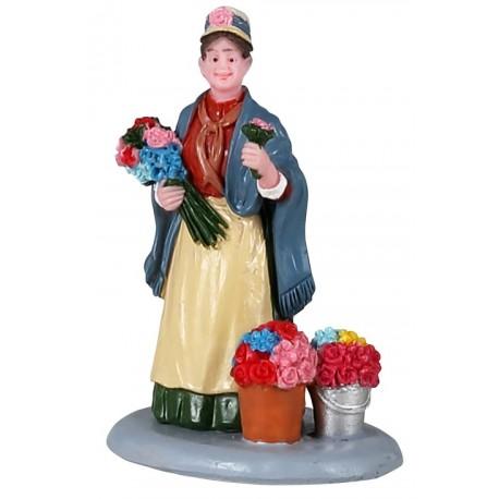 Vendeuse de fleurs Lemax Caddington