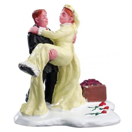 Couple de jeunes mariés Lemax Caddington