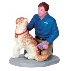 Homme et son chien Lemax