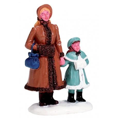 Maman et sa fille Lemax Caddington