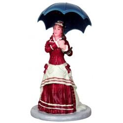 Dame avec ombrelle Lemax Caddington