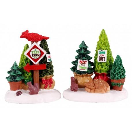 Arbres de Noël en vente Lot de 2 Lemax Vail Village