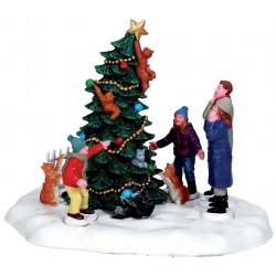 Chats dans sapin de Noël Lemax Caddington
