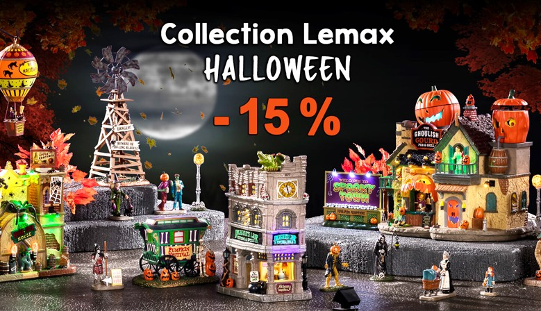Collection Lemax Halloween Spooky town